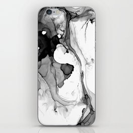 Soft Black Marble  iPhone Skin
