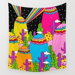 Night Sky Rainbows Wall Tapestry