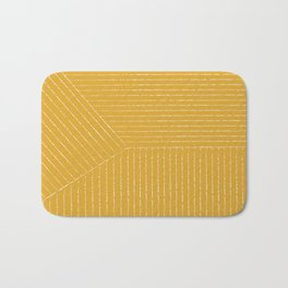 Lines (Mustard Yellow) Bath Mat