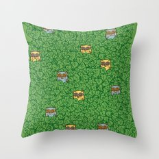 Little Leafy Friends Throw Pillow