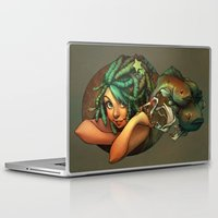 loish Laptop & iPad Skins featuring Smoking Fish by loish