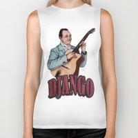 django Biker Tanks featuring Django Reinhardt by Daniel Cash