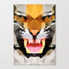 Tiger - Geo Canvas Print