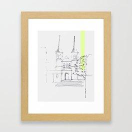 kirche Framed Art Print