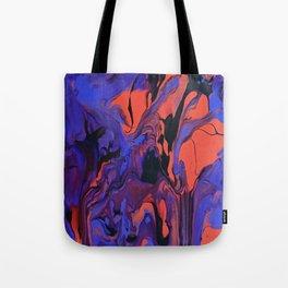 Blue, Teal and Orange Fantasy Tote Bag