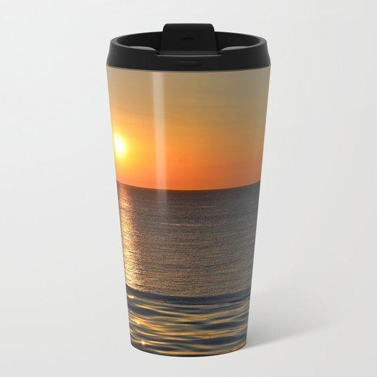 Super Sunset at the Beach Metal Travel Mug