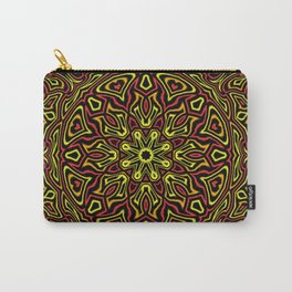 Red Orange and Yellow kaleidoscope Carry-All Pouch