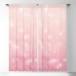 Touching Coral Pink Abstract Painting #1 #ink #decor #art #society6 Blackout Curtain