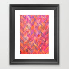 PATTERN {Chevron 012} Framed Art Print