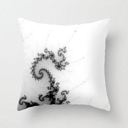 detail on mandelbrot set - pseudopod Throw Pillow