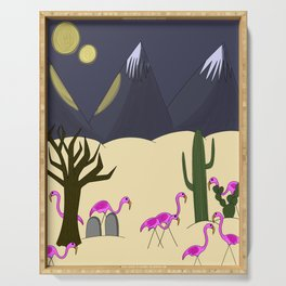 Flamingo Territory Serving Tray