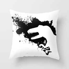 T-Rex Splash Throw Pillow