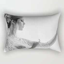 Brigitte Bardot in the looking glass black and white photography - black and white photographs Rectangular Pillow