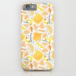 Pasta Pattern on White iPhone Case
