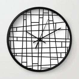 Lines at La Modern  Wall Clock
