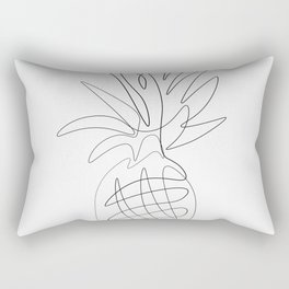 One Line Pineapple Rectangular Pillow