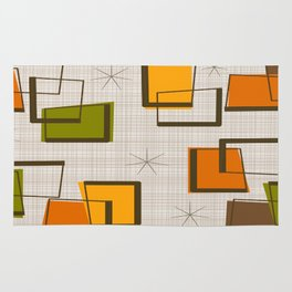 Rectangles and Stars Rug