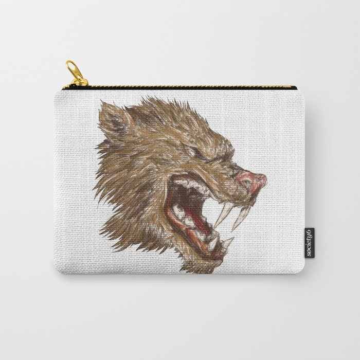 Head with sharp teeth Carry-All Pouch