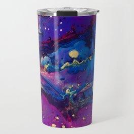 Acrylic Resin Abstract Pour Travel Mug