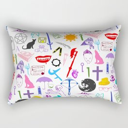 Buffy Symbology, Multi-color / Rainbow / PRIDE! Rectangular Pillow