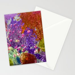 Painted Fields of Flowers Stationery Cards