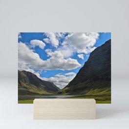 Highland Blue and Green Mini Art Print