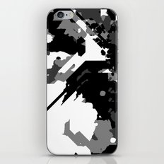 Black Gray and White Abstract iPhone & iPod Skin