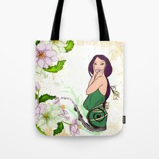 Exotic Lady Garden Tote Bag