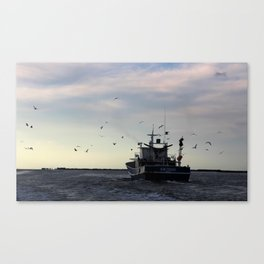 Kim Thanh Floats On Canvas Print