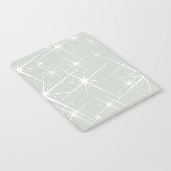 Gray Grey Glitters Sea Salt Notebook