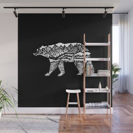 Bear Necessities in Black Wall Mural