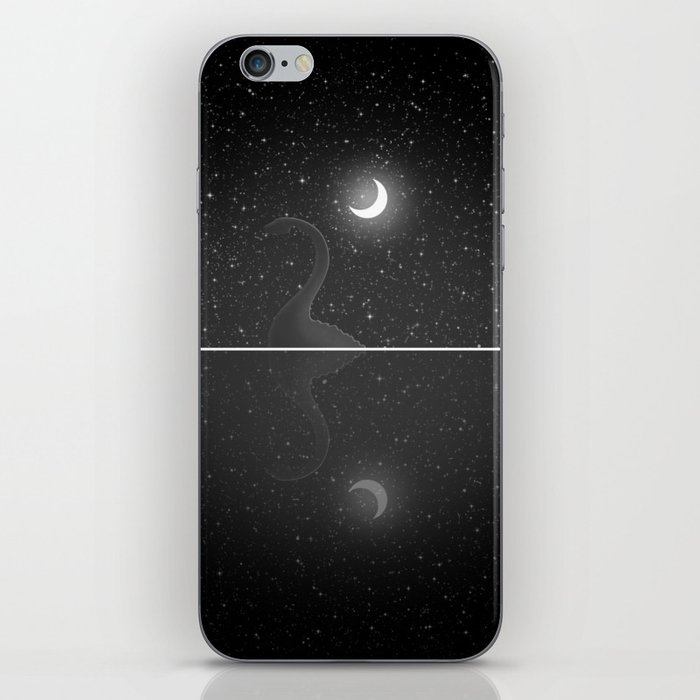 Nessie Starry Night - Loch Ness Monster iPhone Skin