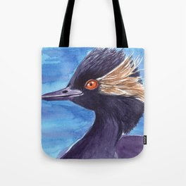 Grebe bird Tote Bag