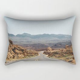 On the Desert Road Rectangular Pillow