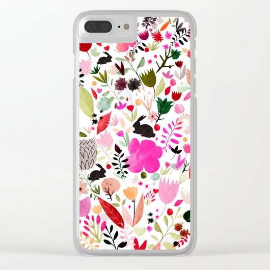 heart bloom Clear iPhone Case