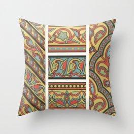vintage artistic pattern Throw Pillow