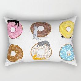 Cats and Donuts Rectangular Pillow