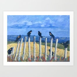 Bye Bye Blackbirds Art Print