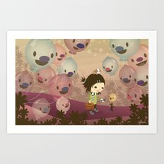 Balloon Tree Song Art Print