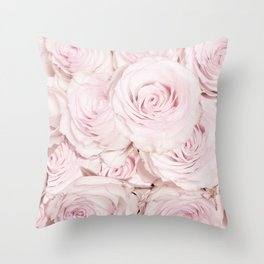 Roses have thorns - Floral Flower Pink Rose Flowers Throw Pillow