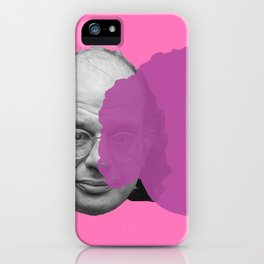 Allen Ginsberg - pop pink purple iPhone Case