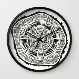 Paper Birch – Black Tree Rings Wall Clock