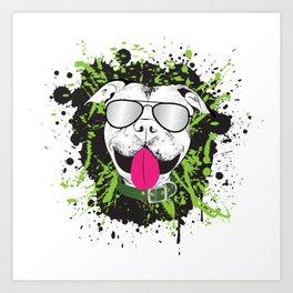 Splatter Pit Bull Art Print