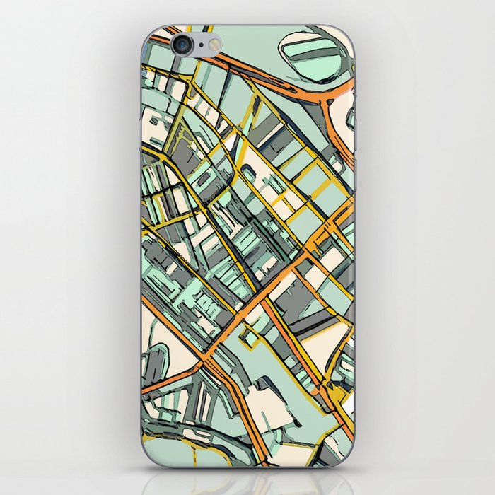 Abstract Map- Boston South End iPhone Skin