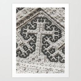 Headstone Cross Art Print