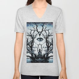 Tree of Life Archetype Religious Symmetry Unisex V-Neck