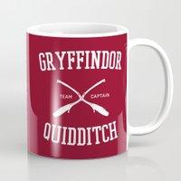 gryffindor Mugs featuring Hogwarts Quidditch Team: Gryffindor by IA Apparel