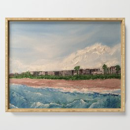 Cocoa Beach  Oil on canvas Serving Tray