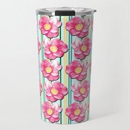Tumbling Camellias Travel Mug