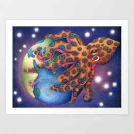 """Octo World"" Art Print"